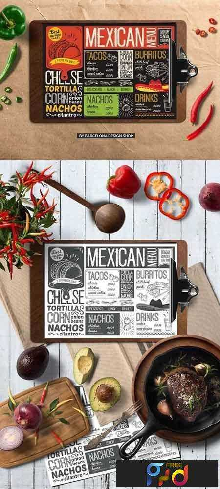 1707199 Mexican Food Menu Template 2032116 - Free PSD download, free - free food menu template