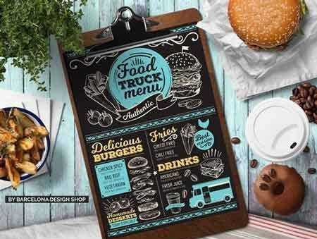 1707200 Food Truck Menu Template 2032109 - Free PSD download, free - food truck menu template
