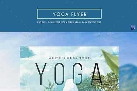 1807211 Yoga Flyer 17308230 - FreePSDvn
