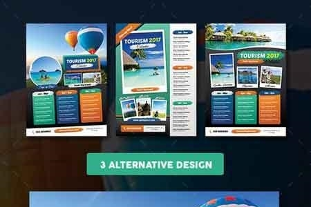 Tourism Events Calendar Flyer Template 18182109 - FreePSDvn