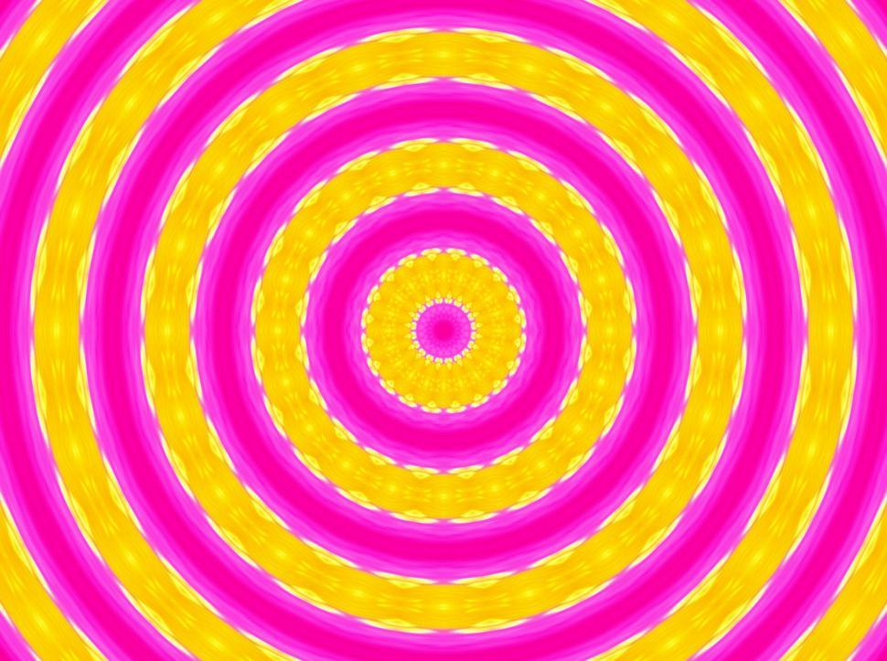 Get Free Stock Photos of Pink and Yellow Pinwheel Target background