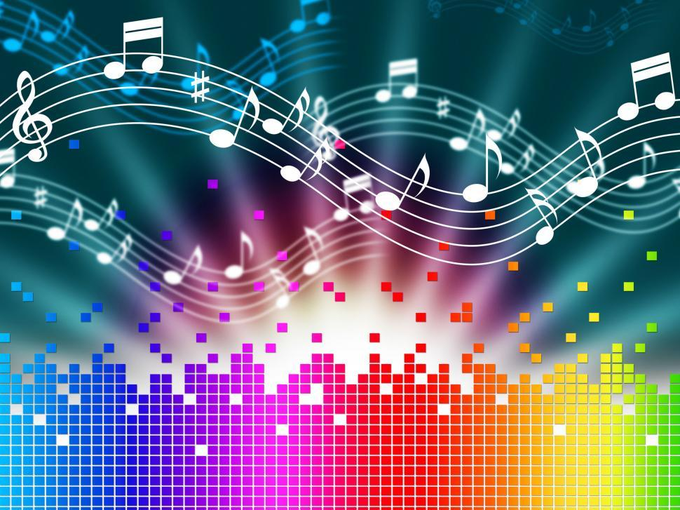 Get Free Stock Photos of Rainbow Music Background Means Melody
