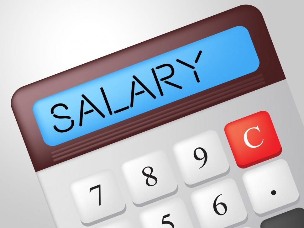 Get Free Stock Photo of Salary Calculator Shows Pay Salaries And