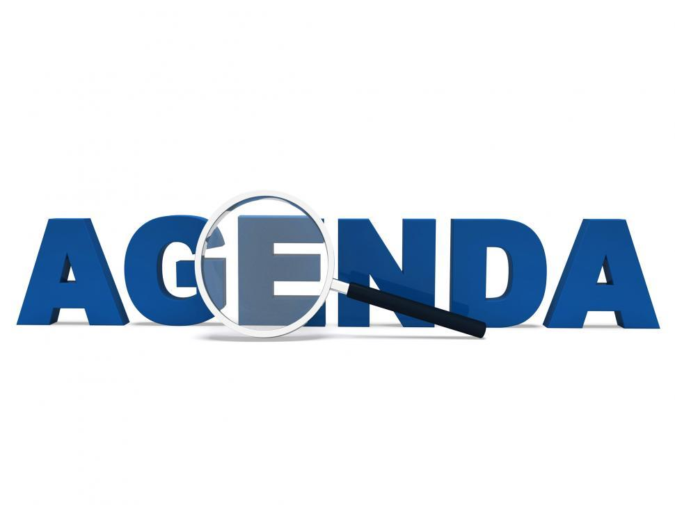 Get Free Stock Photos of Agenda Word Means To Do Schedule Program Or