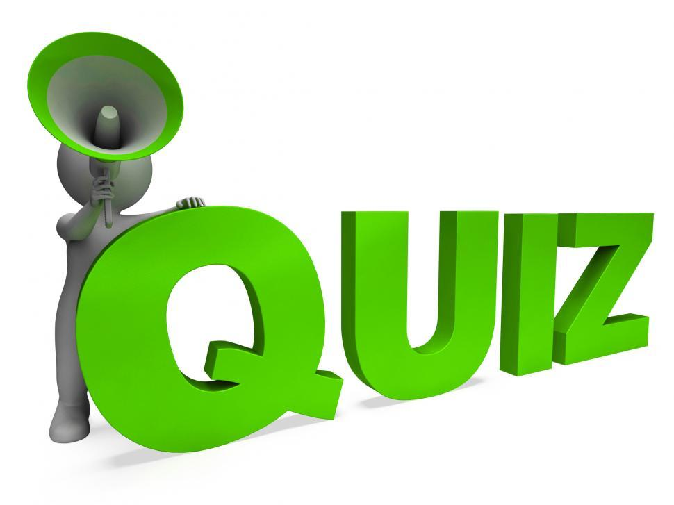 Get Free Stock Photos of Quiz Character Means Test Questions Answers