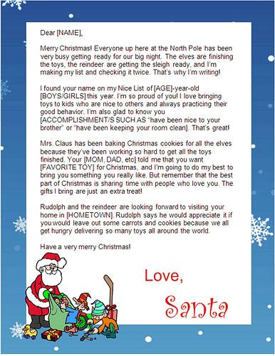 Free Santa Lettersnet - free printable Santa letters in minutes!