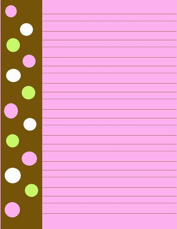 Pink and Brown Writing Paper Free School Paper - colored writing paper