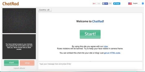 chatrad sites like omegle