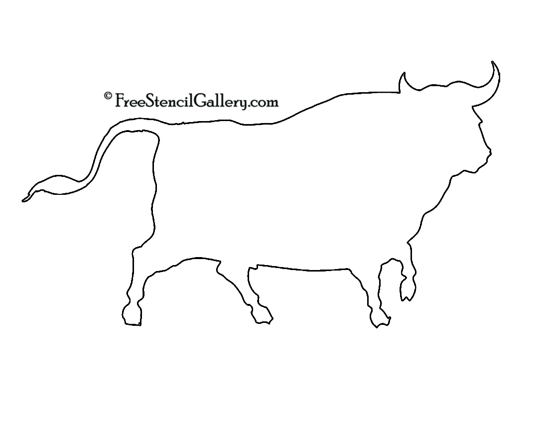 Steer Stencil Bull Stencil Pictures To Pin On Pinterest Pinsdaddy