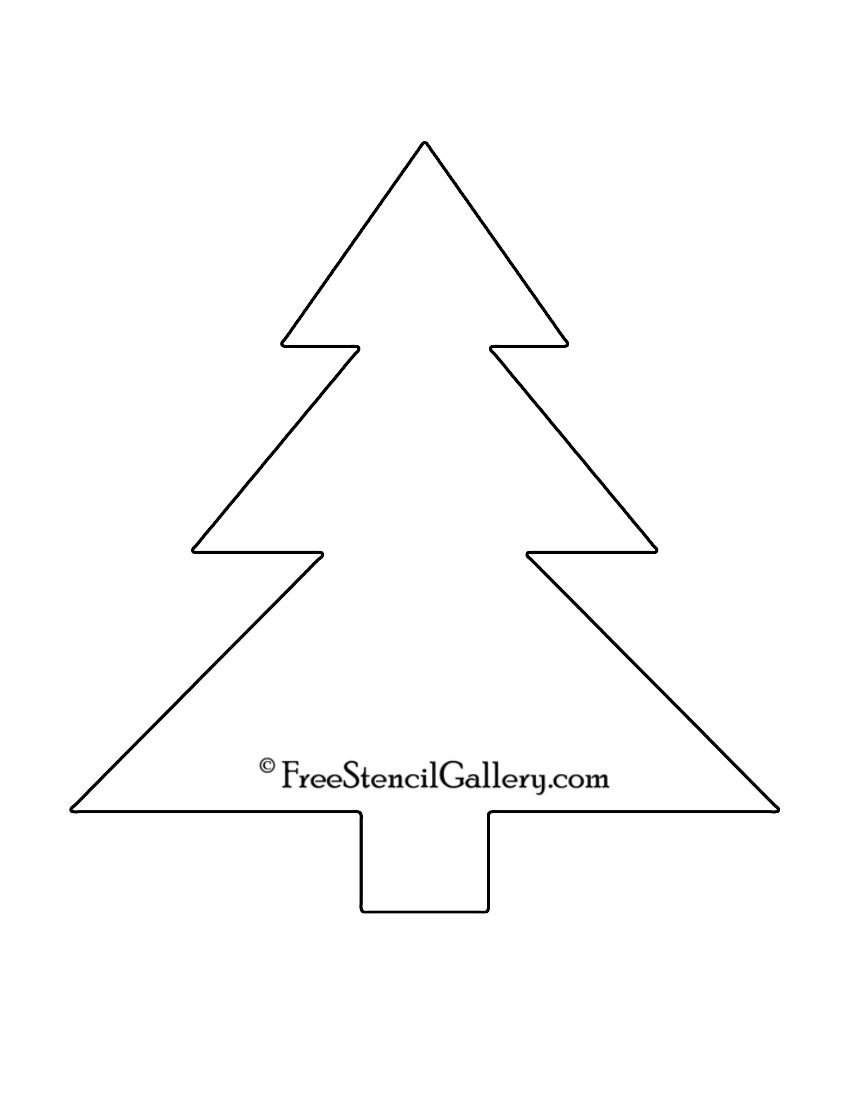 christmas tree stencil template