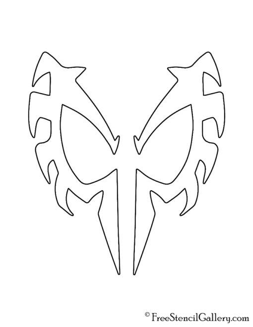 Spiderman 2099 Mask Stencil Free Stencil Gallery