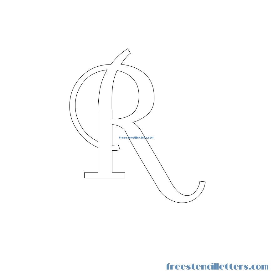 Free stencil letters to print and cut out - pretty lettering stencils