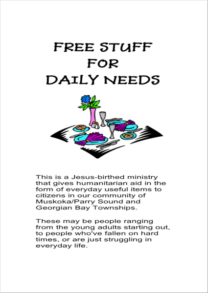 free stuff 4 daily needs brochure pg 1