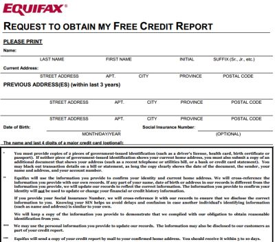 Free Canadian Credit Reports to See Your Credit Ratings from Equifax, Experian and TransUnion - Canada