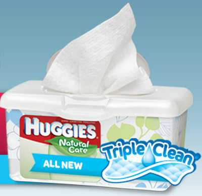 Walmart Free Huggies Natural Care Wipes with Triple Clean Layers - US