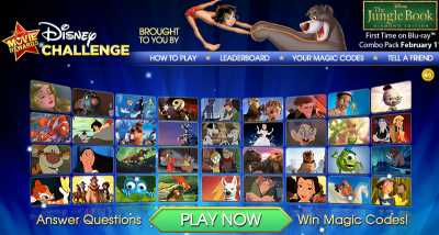 Disney Movie Rewards Play Disney Challenge for 5 Free Disney Movie Rewards Points via Facebook