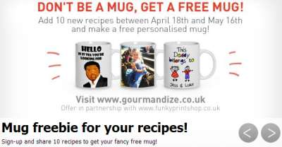 Gourmandize Free Mug When You Add 10 Recipes - UK