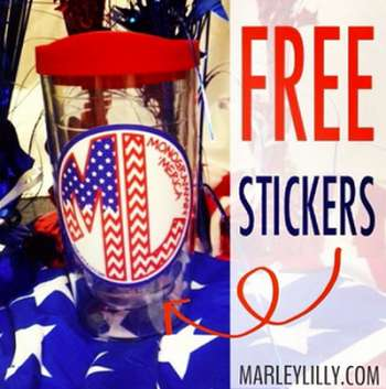 Marley Lilly Free Promotional Stickers for April - US