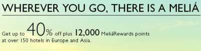 Melia Free 12,000 MeliaRewards Points for Joining; Enough Points for a Hotel in Europe
