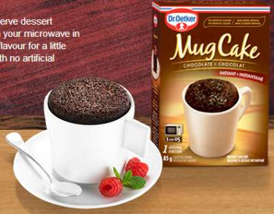 Dr. Oetker Free Coupon for a Free Mug Cake via Facebook - Canada