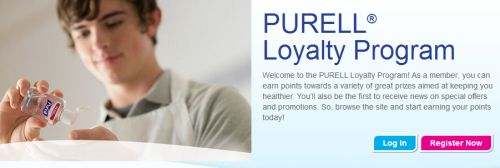 Purell Loyalty Program Earn Points for Free Purell Product, Samples, and Gift Cards