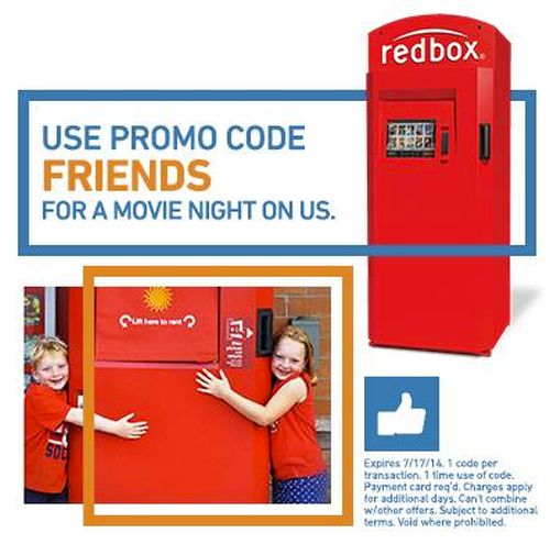 Redbox Free Movie Rental Code - Exp. July 17, 2014