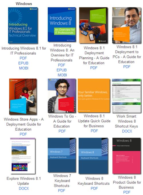 MSDN Free Microsoft eBooks: Windows 8.1, Windows 8, Windows 7, Office 2013, Office 365, Office 2010, SharePoint 2013, etc. - Worldwide