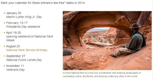 National Park Service Birthday Free National Park Entrance Day on August 25, 2014