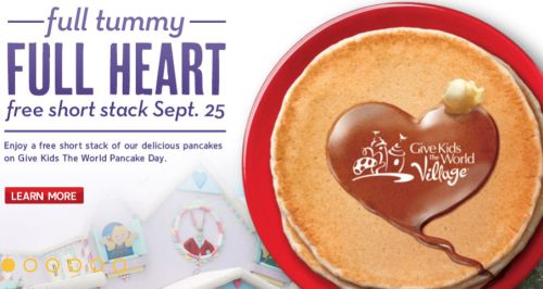 Perkins Restaurant & Bakery Free Short Stack of Pancakes on September 25, 2014, US