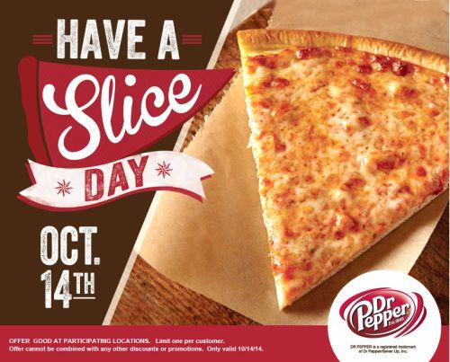 Villa Fresh Italian Kitchen Have a Slice Day Free Slice on October 14, 2014 via Facebook - US