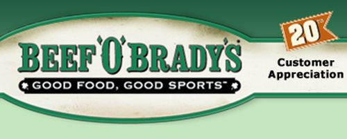 Beef O' Brady's Free Classic Starter for Joining Email List - Ages 13+, US