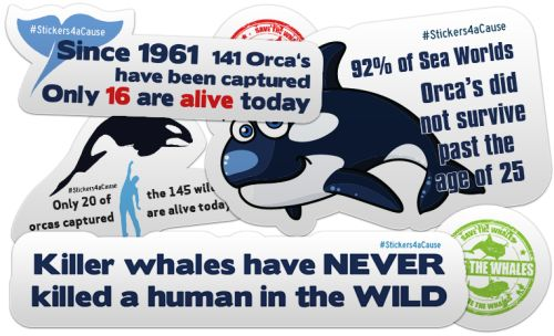 858 Graphics 10 Free Stickers about Orca Whales - US