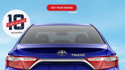 Toyota Vayamos Juntos Free Car Name Badge - US
