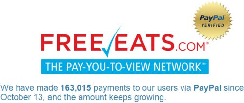 FreeEats.com Get $1 Free to PayPal for Signing Up - US