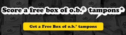 GiveUsOnePeriod.ca o.b. Tampons Free Box - Canada
