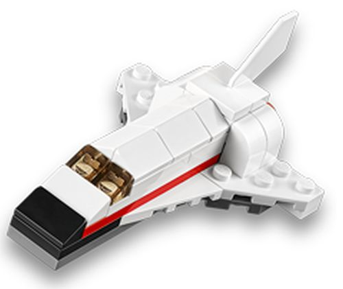 LEGO Store February 2015 Mini Model Build: Space Shuttle on Tuesday, February 3, 2015 beginning at 5:00 pm