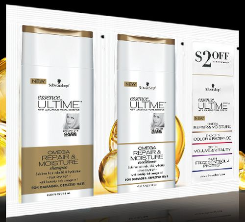 Schwarzkopf Free Essense ULTÎME Omega Repair & Moisture Shampoo and Conditioner Sample via Facebook - US