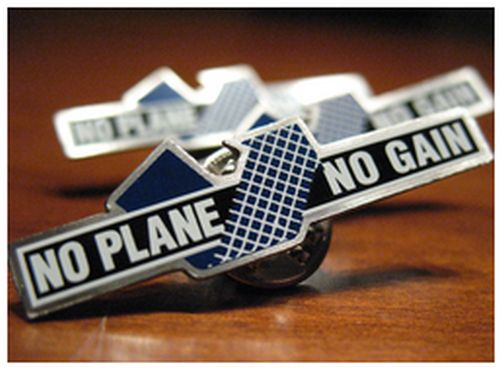 National Business Aviation Association NBAA Free No Plane No Gain Pins - Canada, Mexico and US