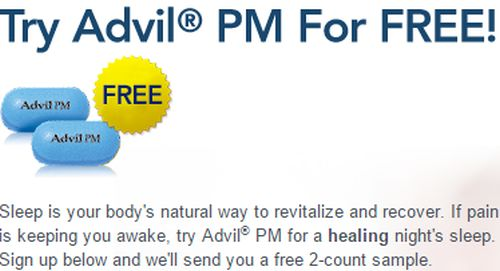Advil PM Free Sample with Two Tablets - US