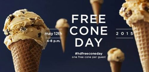 Häagen-Dazs Shops #hdfreeconeday Free Ice-Cream Cone on May 12, 2015