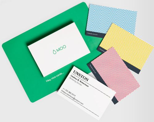 moo 10 free business cards sample pack