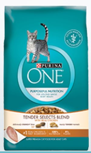Purina One Tender Selects Blend Dry Cat Food