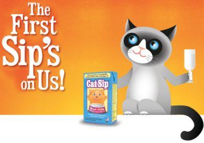 PetAg Cat-Sip Real Milk Treat Sample