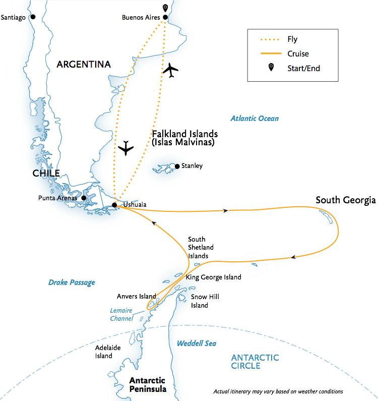 Antarctica Itineraries - Freestyle Adventure Travel