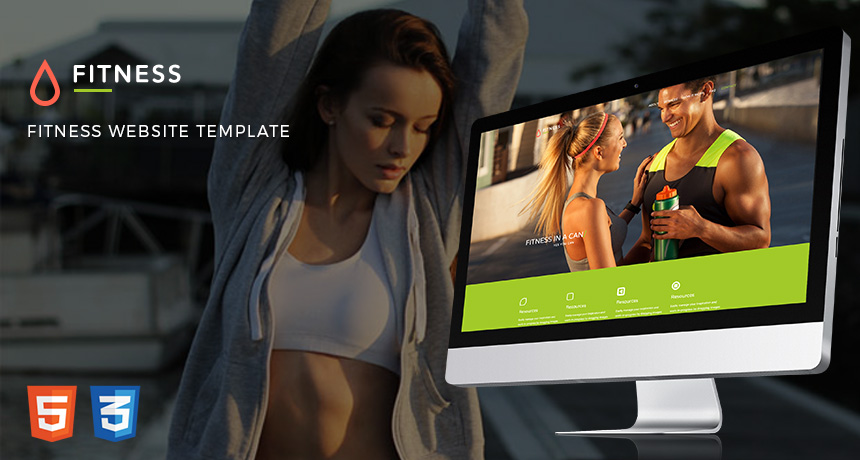 Fitness Website Free Bootstrap Template Free HTML5 Templates - Fitness Templates Free
