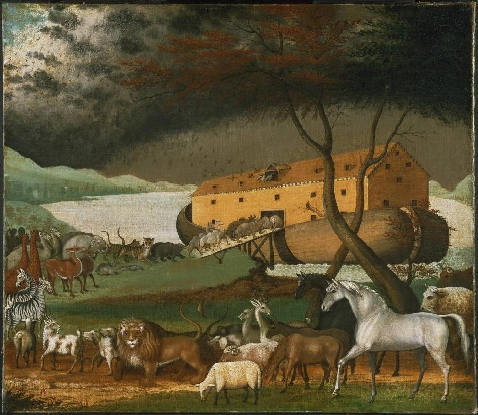 Noah's Ark by Edward Hicks, 1845. Public domain image from Wikimedia Commons.