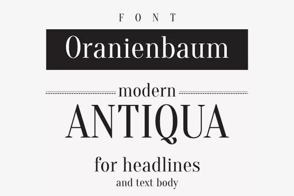 Oranienbaum Font Download