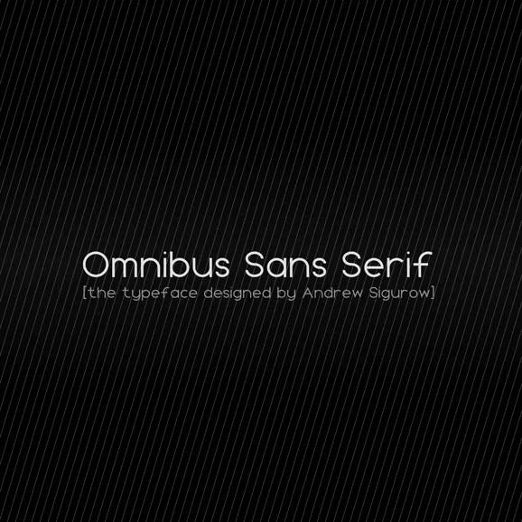 Omnibus Sans Serif Font Download