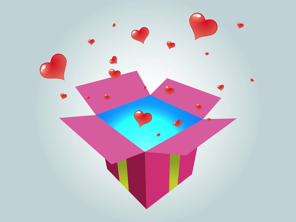 Leuke Knutseldingen Gift With Hearts Vector Art & Graphics | Freevector.com