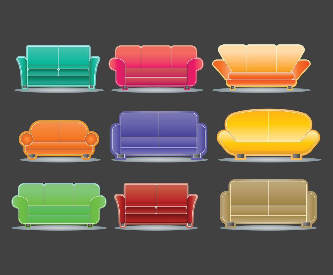 Sofa Set Vector Free Download Download Vector Couch Vector Vectorpicker